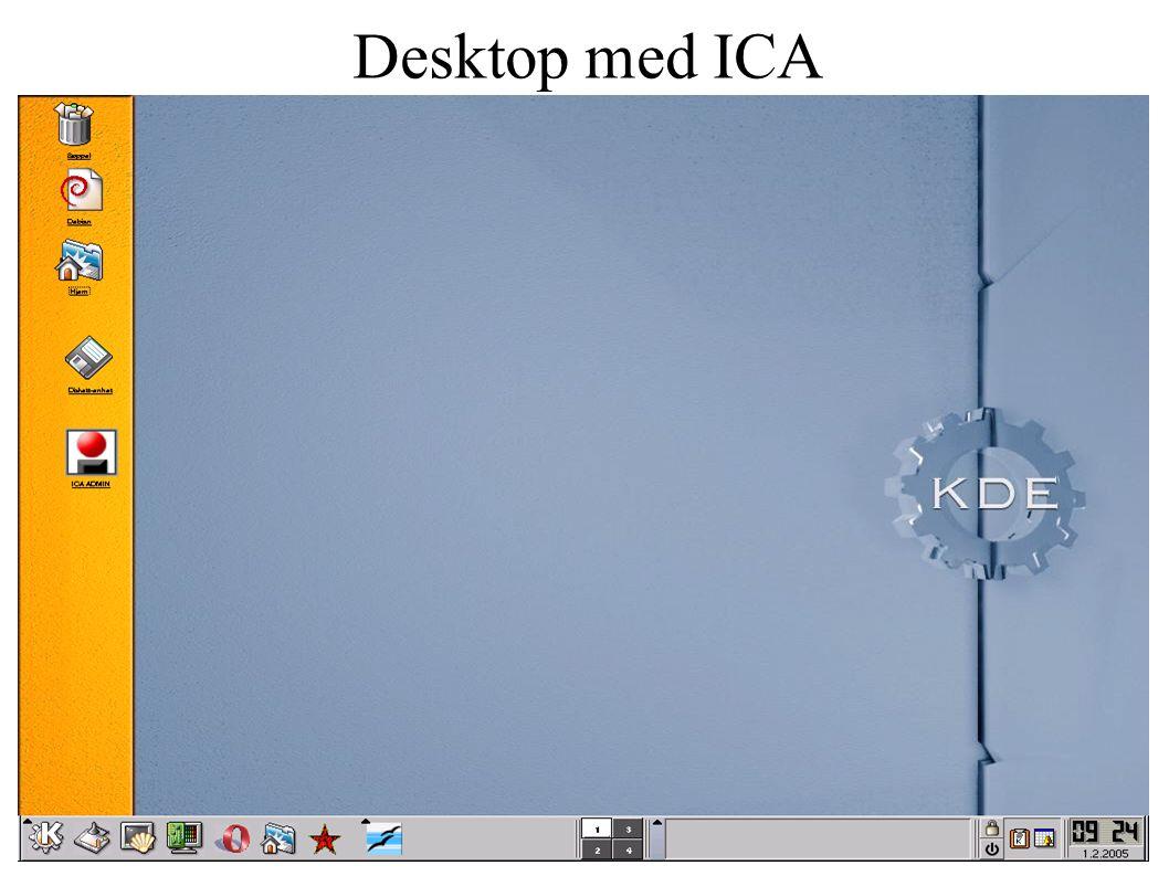 Desktop med ICA