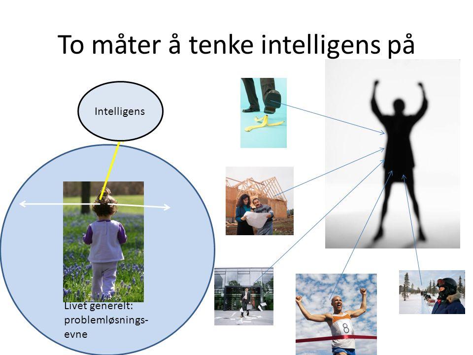 To måter å tenke intelligens på Intelligens Livet generelt: problemløsnings- evne