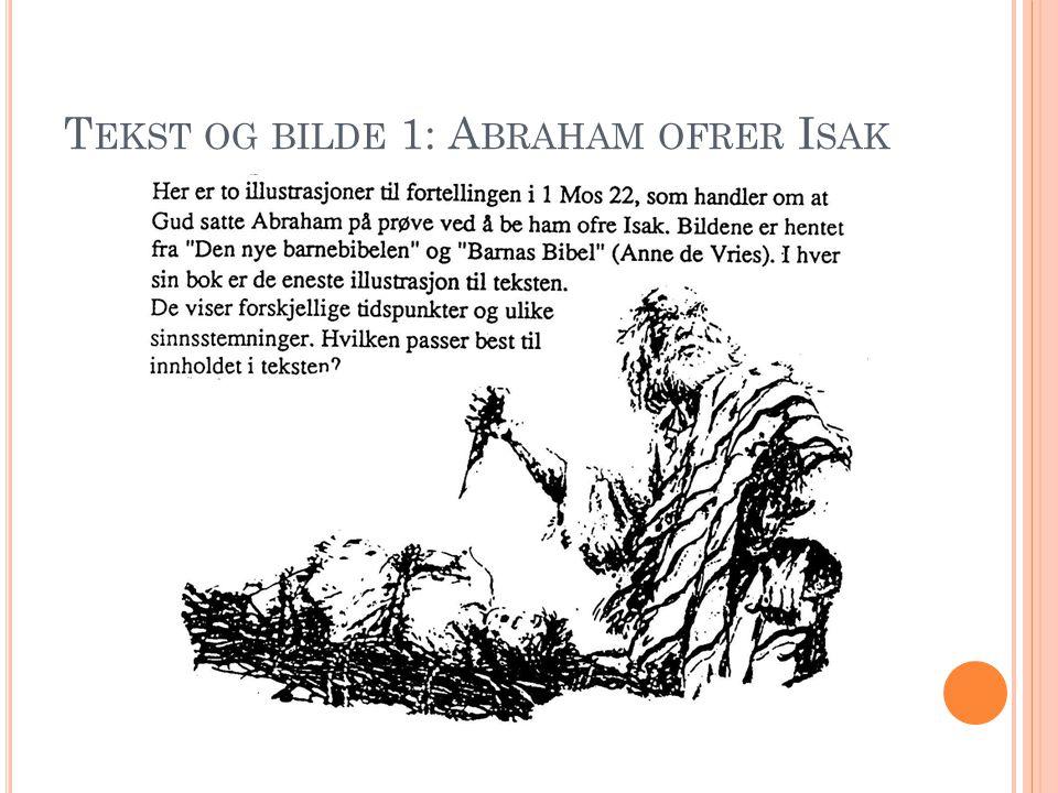 T EKST OG BILDE 1: A BRAHAM OFRER I SAK
