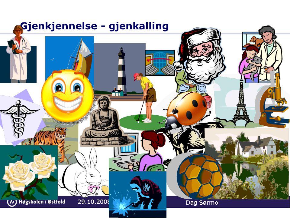 Gjenkjennelse - gjenkalling 29.10.2008 Dag Sørmo