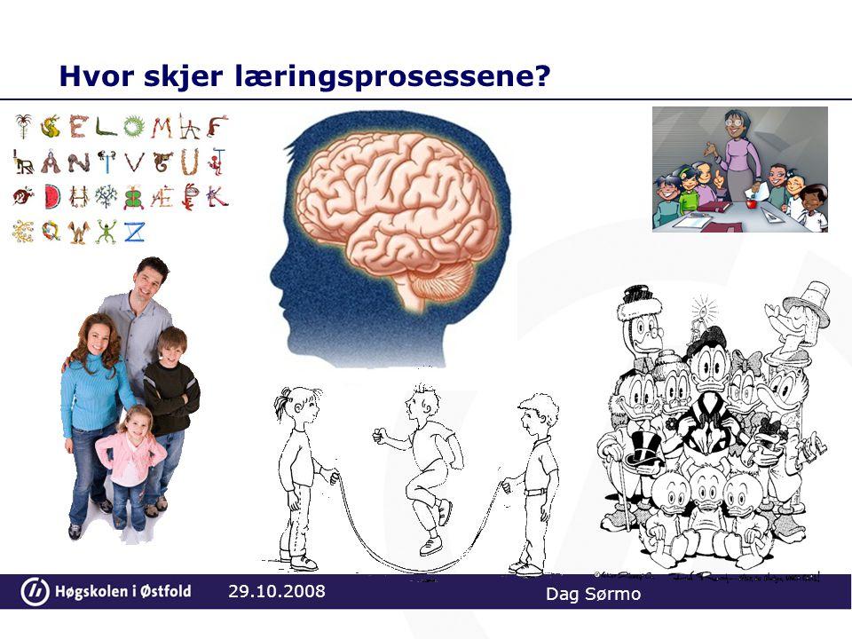 Oppgave Hvilke hensyn må du ta til lærestoffet du skal undervise i (matte, norsk, historie, naturfag…?) når du kjenner de kognitive prosesser 29.10.2008 Dag Sørmo
