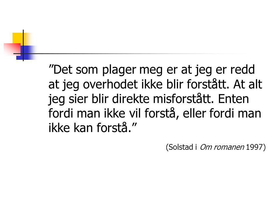 Tenkepause Drøft lektor Elias Rukla si tolking av Vildanden og den tydinga dette dramaet har for tematikken i romanen.