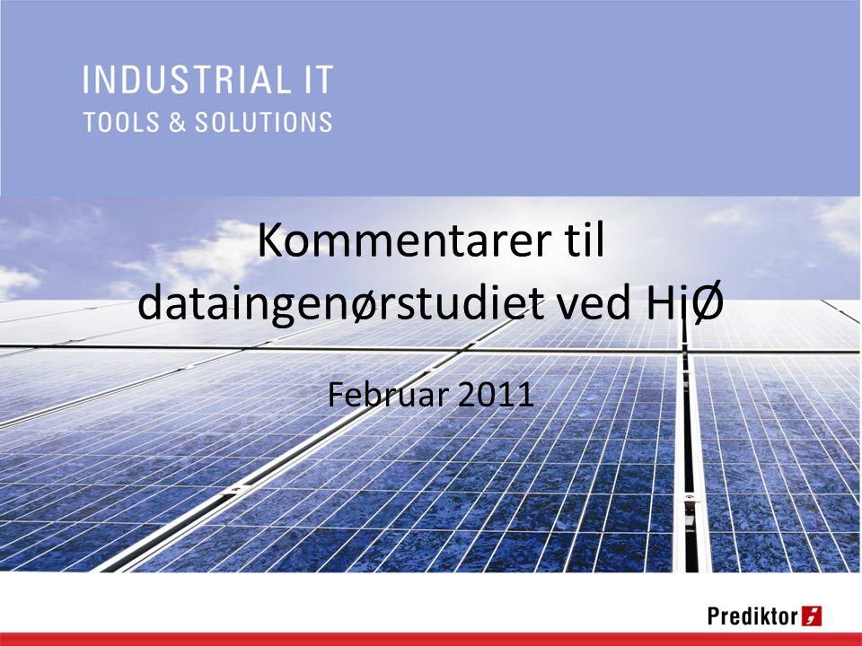 Kommentarer til dataingenørstudiet ved HiØ Februar 2011