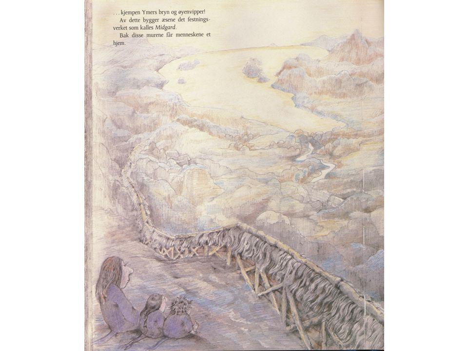Norrøn mytologi Levende vesener (Ymer og Audhumla) oppsto fra den smeltende isen da kulde og is møttes i det store tomrommet mellom Niflheim (frost og tåke) og Muspellsheim (frådende flammer).