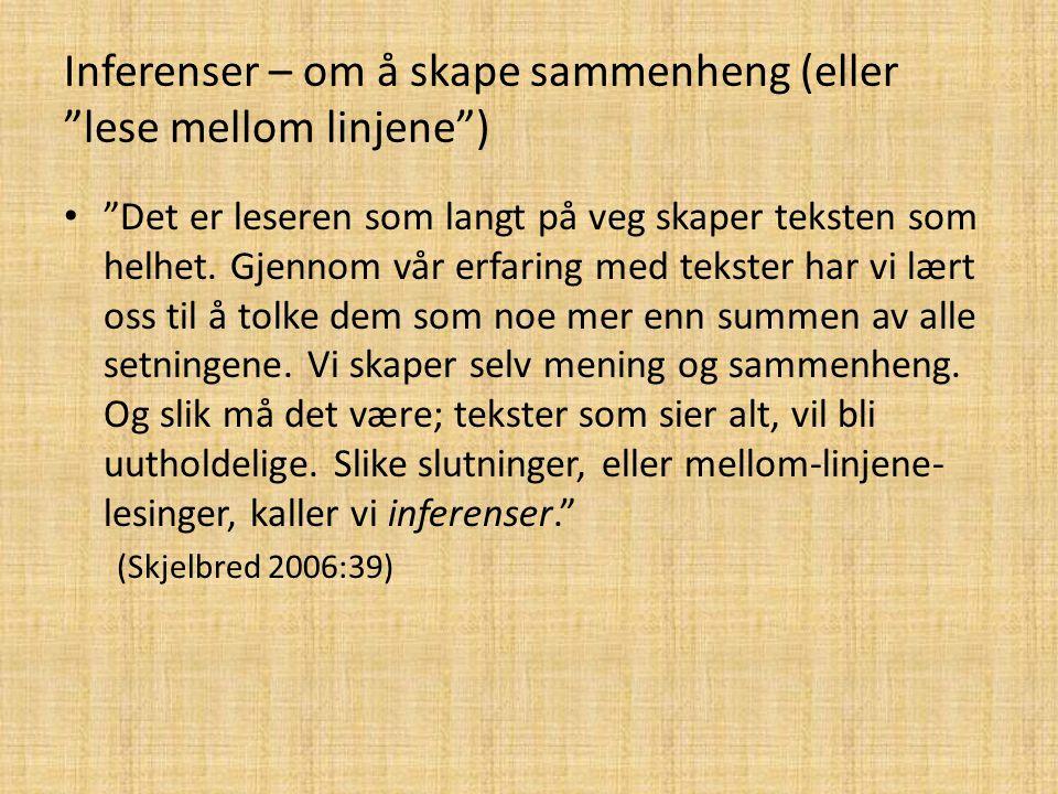 Fleire metaspråklege tekstordnarar eller peikarar: Rekne opp: Primært vil vi ….