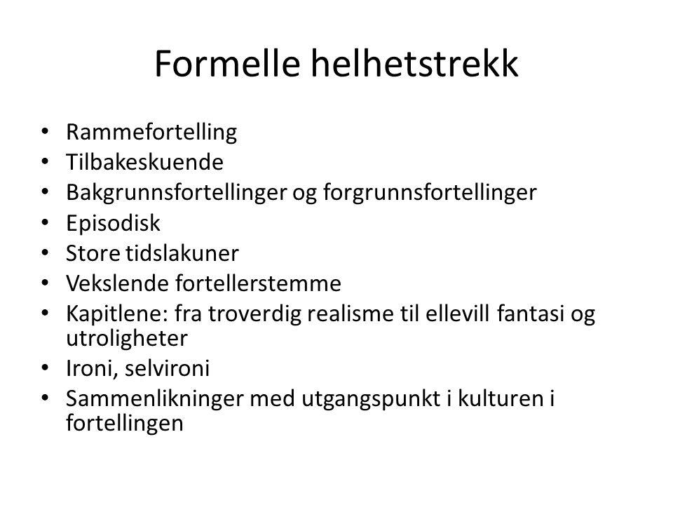 Andre svenske samtidsromaner med liknende motivkrets Torgny Lindgren: – Pølsan – Hummelhonung Göran Tunström – Juloratoriet Jonas Hassein Khemiri – Ett öga rött
