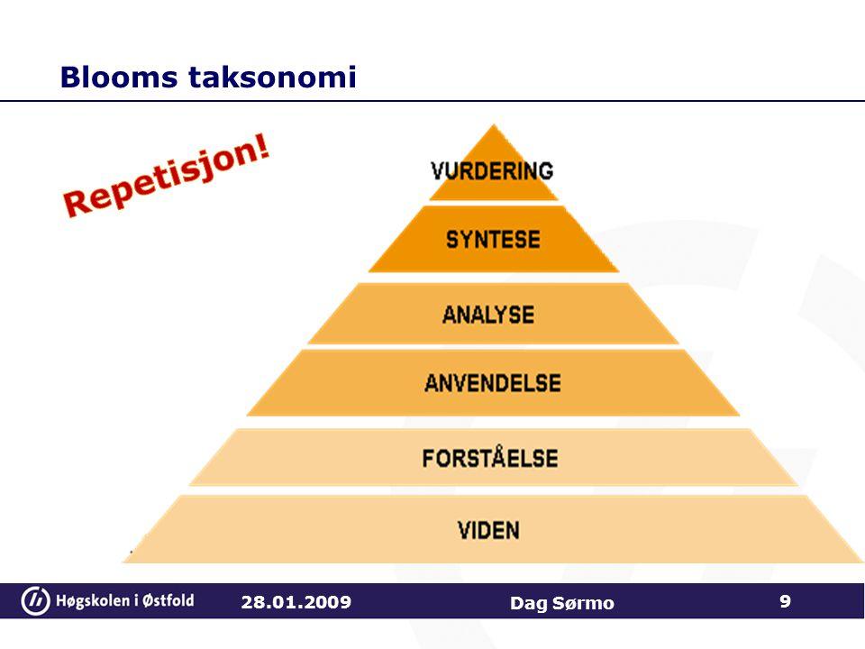 Blooms taksonomi 28.01.2009 Dag Sørmo 9