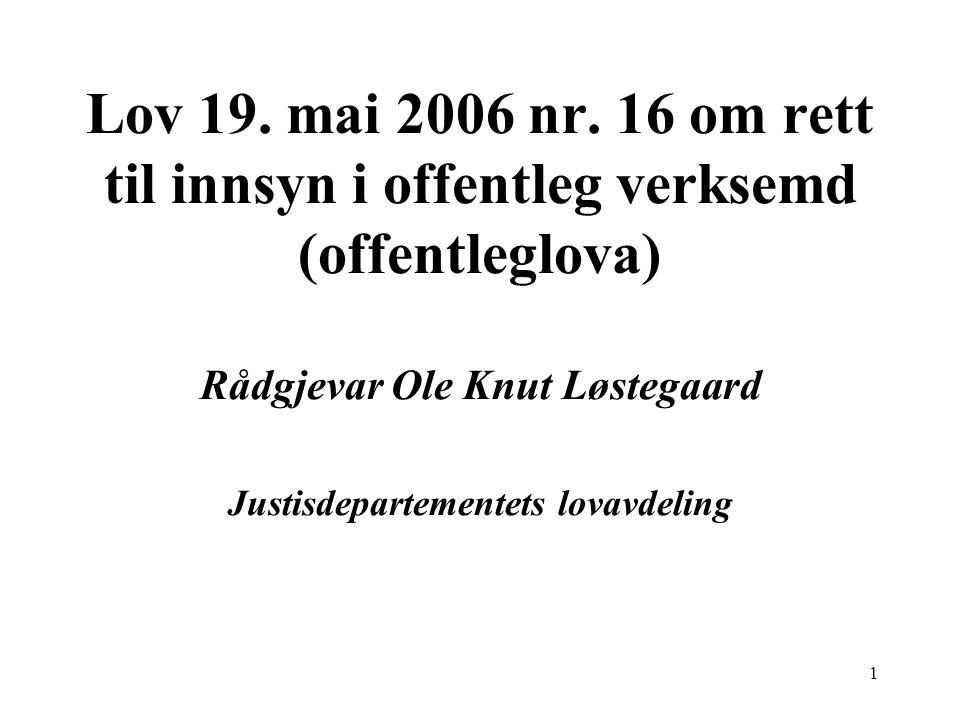 1 Lov 19.mai 2006 nr.