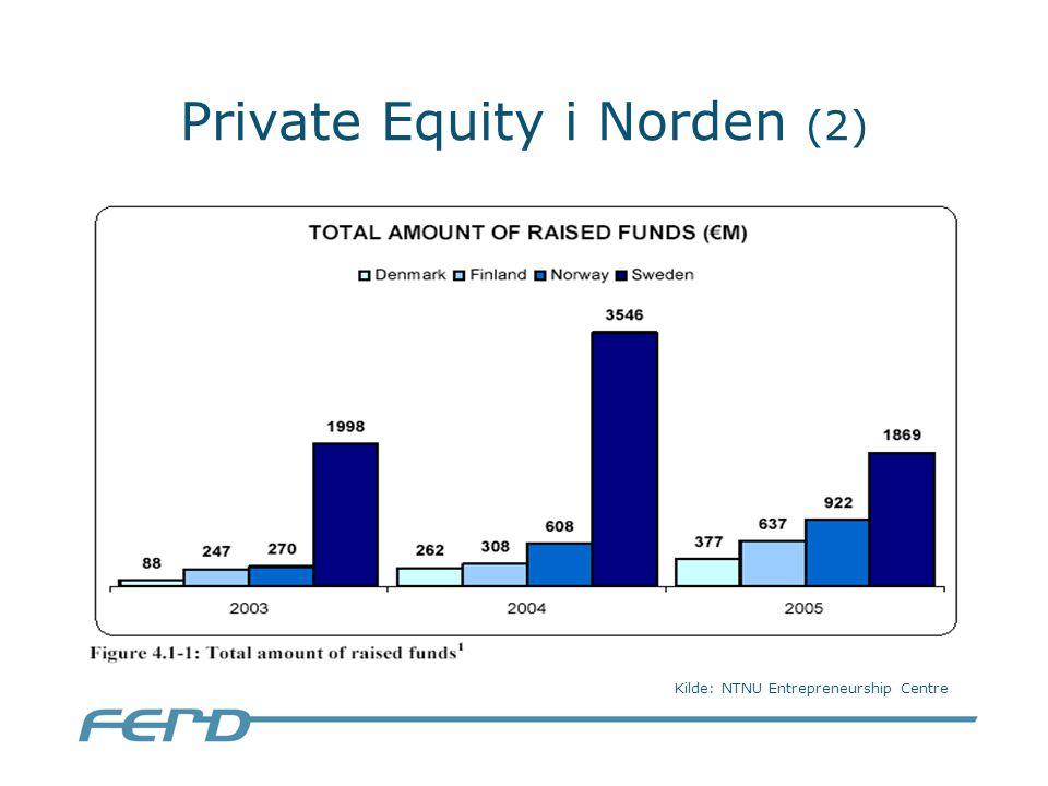 Private Equity i Norden (2) Kilde: NTNU Entrepreneurship Centre