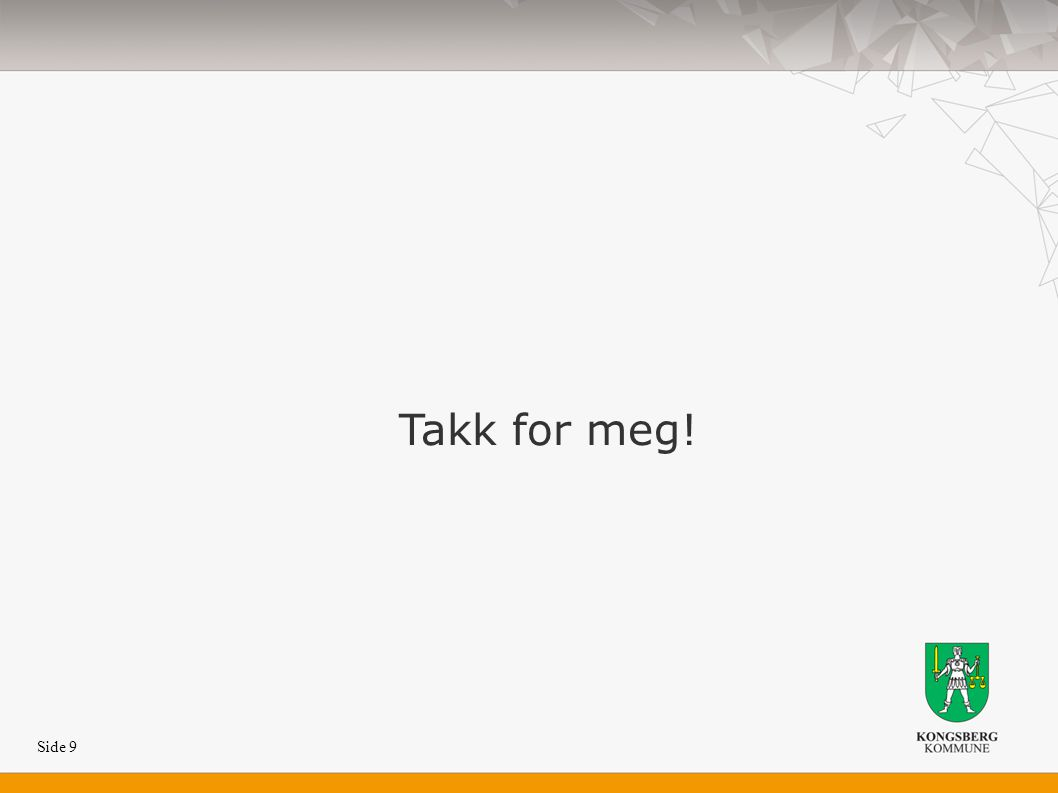 Side 9 Takk for meg!