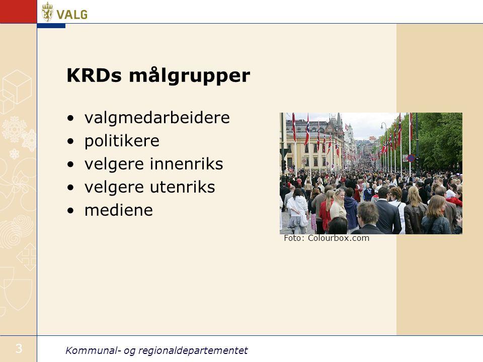 Kommunal- og regionaldepartementet 4 Valgportalen: www.valg.nowww.valg.no All info fra KRD om valg Tilrettelagt for ulike målgrupper.