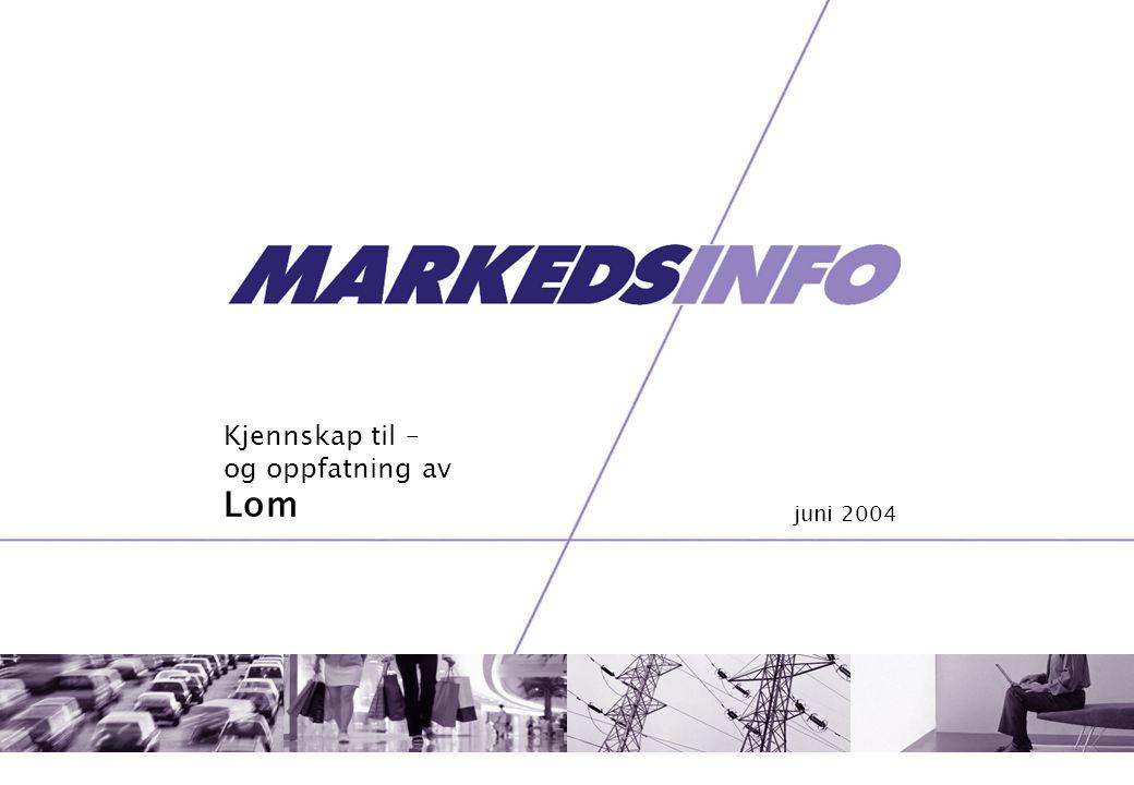 Kjennskap til – og oppfatning av Lom juni 2004