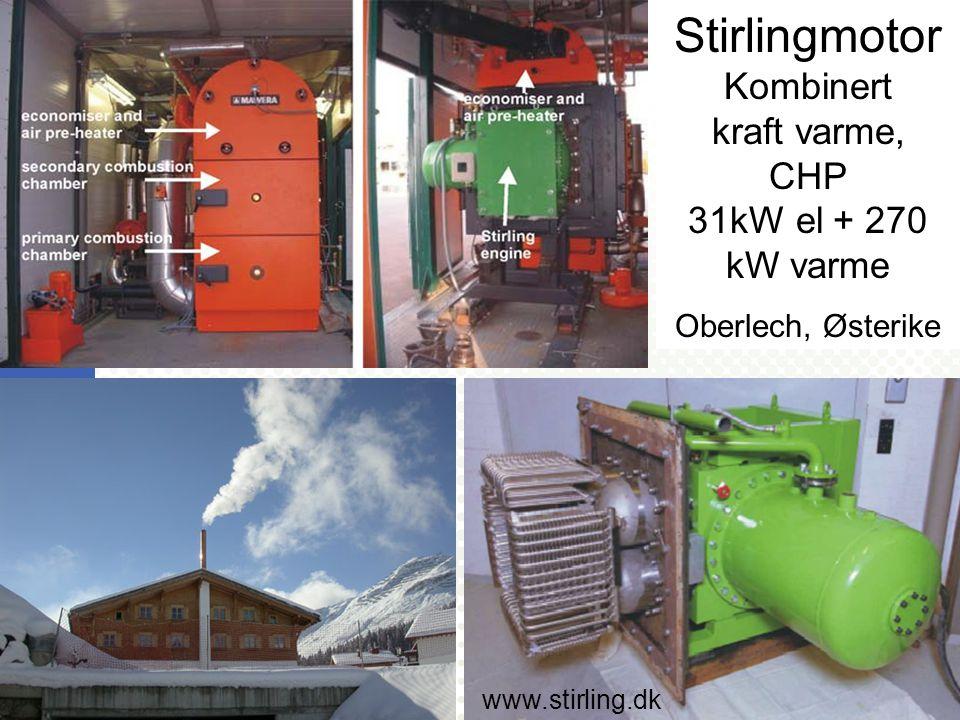 UNIVERSITETET FOR MILJØ- OG BIOVITENSKAP www.umb.no Bioenergiens rolle i fremtidens energisystemer 42 Stirlingmotor Kombinert kraft varme, CHP 31kW el + 270 kW varme Oberlech, Østerike www.stirling.dk