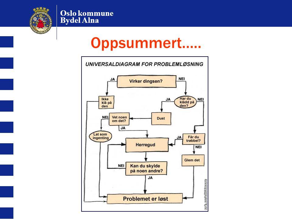 Oslo kommune Bydel Alna Oppsummert…..