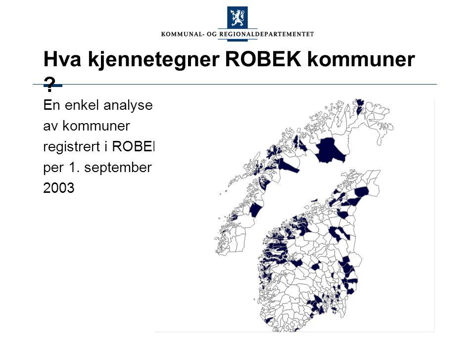 ROBEK-kommuner – fylkesvis fordeling