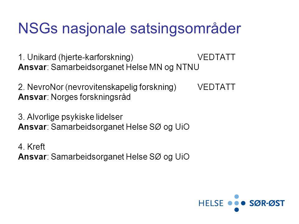 NSGs nasjonale satsingsområder 1.