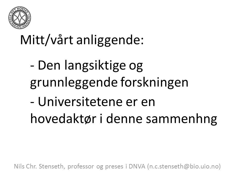 Mitt/vårt anliggende: Nils Chr.