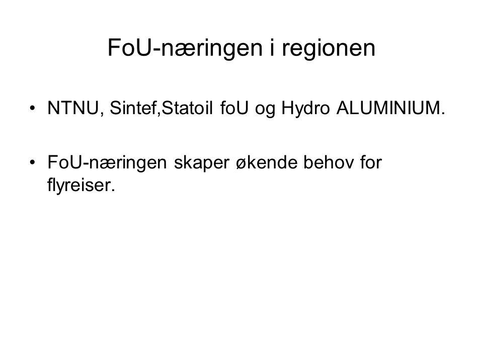 FoU-næringen i regionen NTNU, Sintef,Statoil foU og Hydro ALUMINIUM.