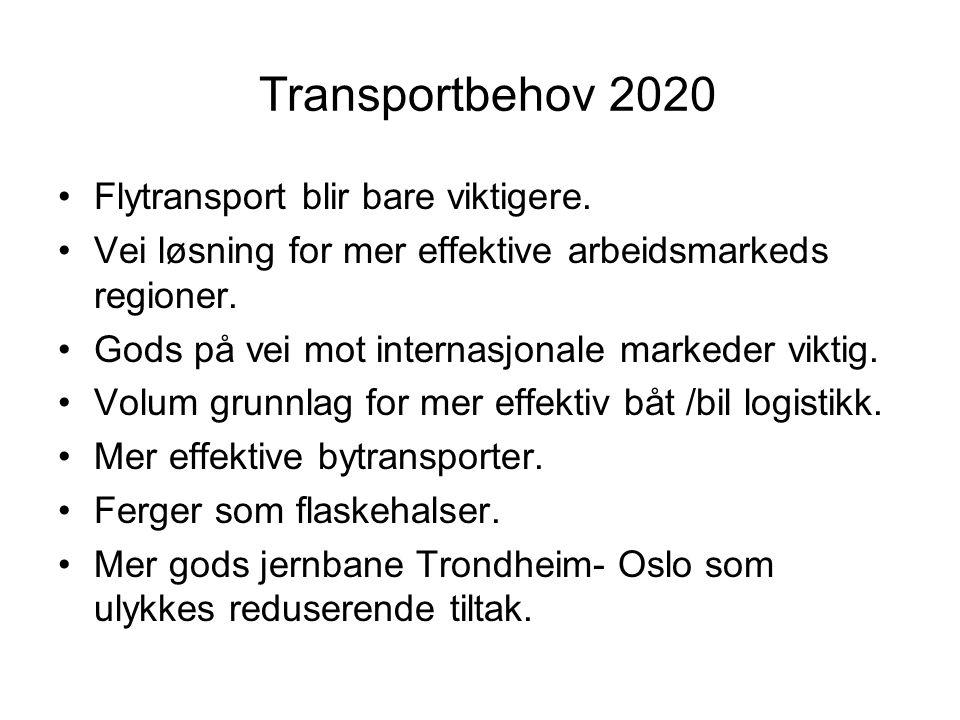 Transportbehov 2020 Flytransport blir bare viktigere.