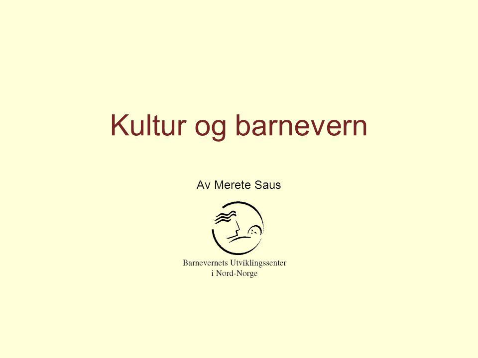 Kultur og barnevern Av Merete Saus