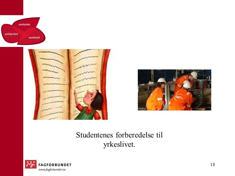 Studentenes forberedelse til yrkeslivet. 18