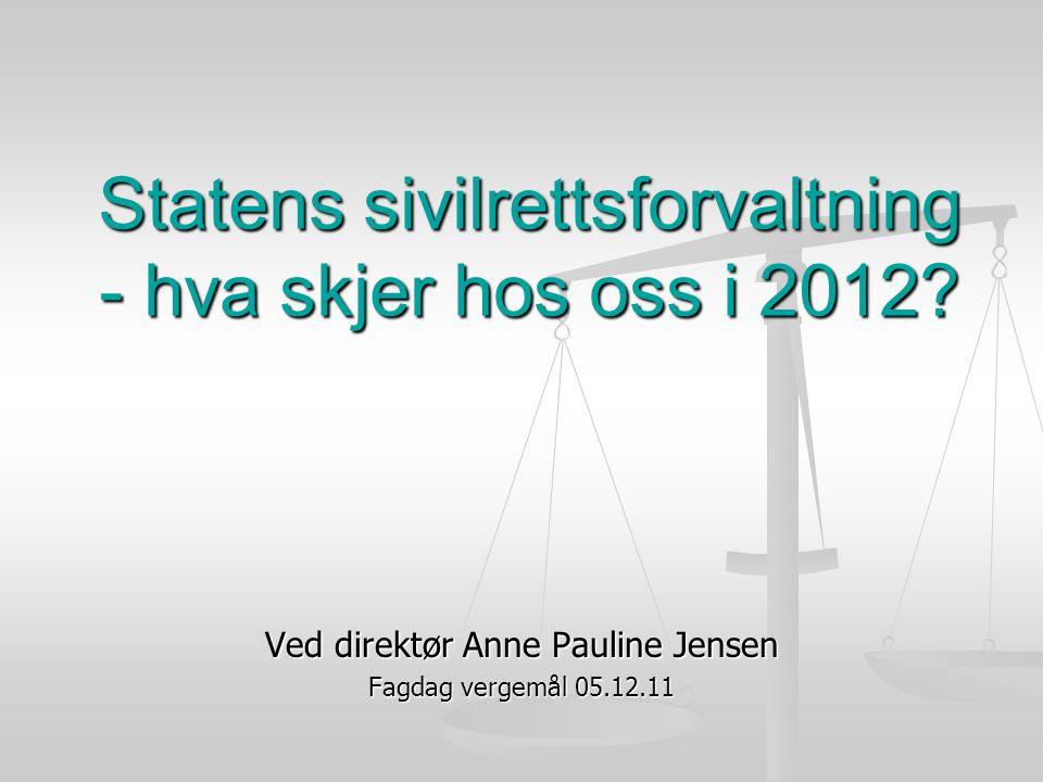 Statens sivilrettsforvaltning - hva skjer hos oss i 2012.