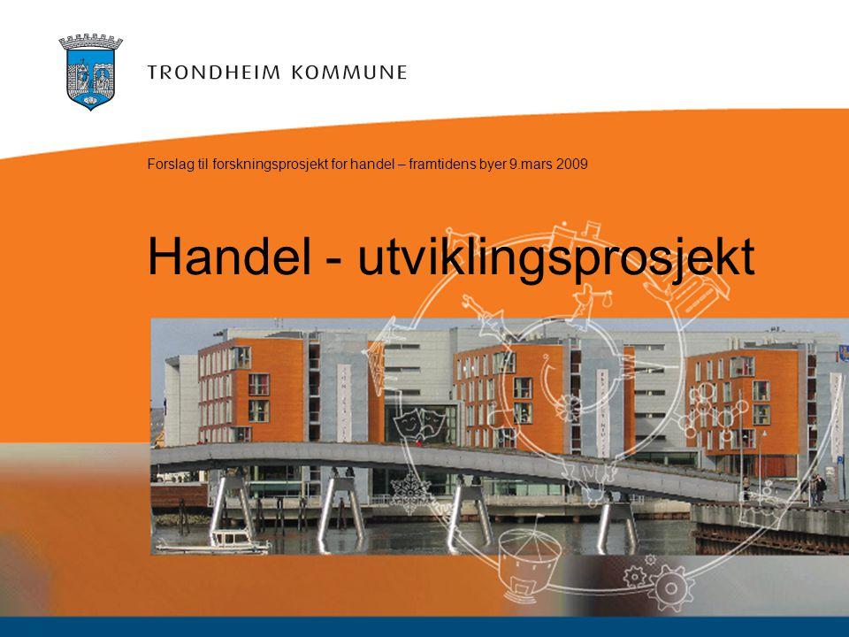 Handel - utviklingsprosjekt Forslag til forskningsprosjekt for handel – framtidens byer 9.mars 2009