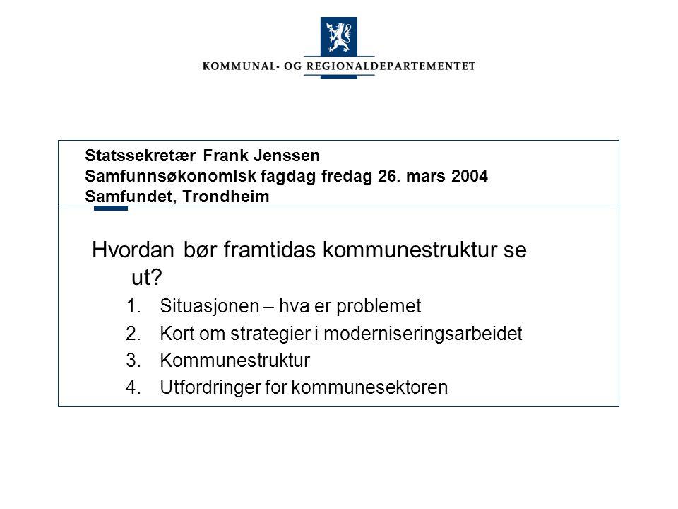 Statssekretær Frank Jenssen Samfunnsøkonomisk fagdag fredag 26.