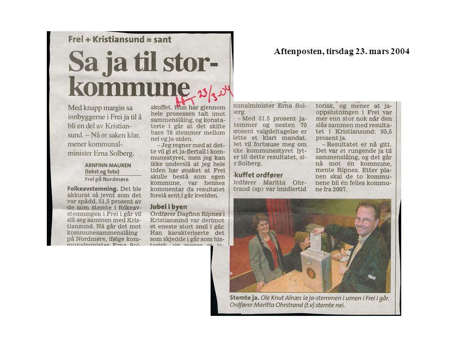 Aftenposten, tirsdag 23. mars 2004