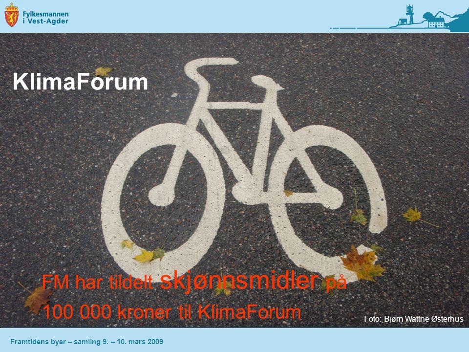 KlimaForum FM har tildelt skjønnsmidler på 100 000 kroner til KlimaForum Framtidens byer – samling 9.