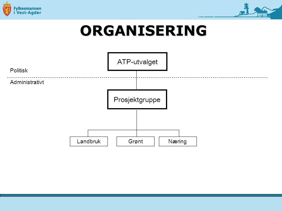ATP-utvalget Prosjektgruppe Politisk Administrativt NæringGrøntLandbruk ORGANISERING