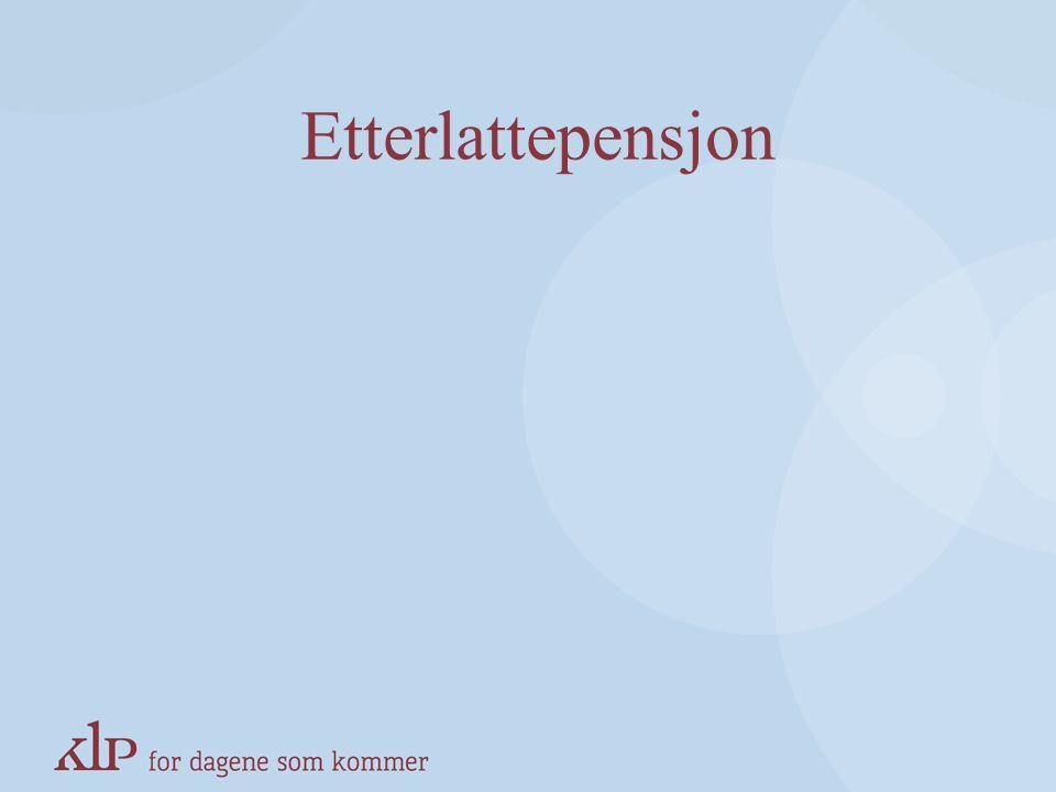 Inntektsregler Attføringspensjon/rehabiliteringspenger –Ingen inntekt ved siden av pensjon fra KLP Tidsbegrenset uførestønad/uførepensjon –Innen offen