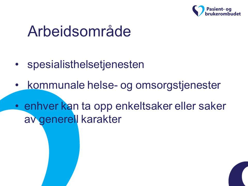 Ombudets arbeidsmåte gi råd og veiledning informere om rettigheter bistå med å formulere og formidle spørsmål og klager bistå med søknad om pasientskadeerstatning bistå i kontakt med tjenestetilbud