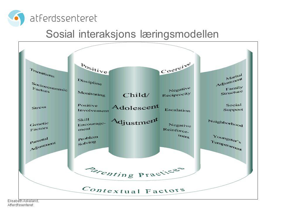 Elisabeth Askeland, Atferdfssenteret TIBIR – foreløpige funn Rådgiverintervensjonen, foreldredata 218 familier deltar (82 % av data analysert ved T2) Foreldrenes alder; M=35 (22 – 58) Barnets alder; M=7 (3 – 13) 32% jenter, 68 % gutter 50 % selvrekruttert eller helsestasjon (21 % fra barnevernet) 89 % over normert gjennomsnitt, 46 % i klinisk område.