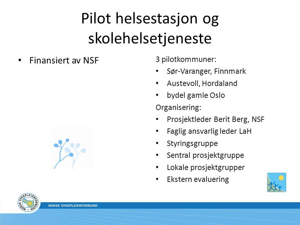 Utfordringer Intern forankring Intern forståelse, også blant NSFs faggrupper Økonomi Gehør hos myndighetene Tidsressurs for pilotdeltagerne – prioritering og engasjement Formidling til medlemmene