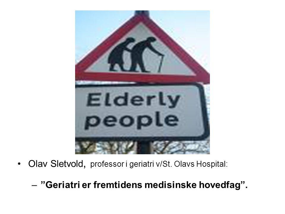 Delirium – forvirring - konfusjon Er den største utfordring innen akuttmedisinen for gamle, (særlig i sykehus) Professor i geriatri Olav Sletvold v/ St.
