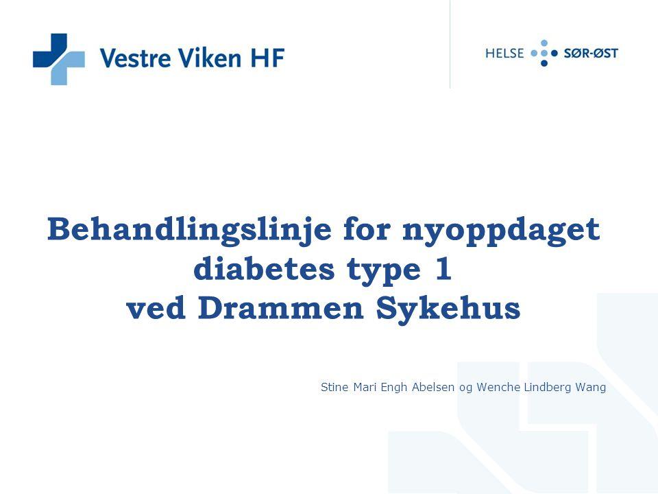 Behandlingslinje for nyoppdaget diabetes type 1 ved Drammen Sykehus Stine Mari Engh Abelsen og Wenche Lindberg Wang