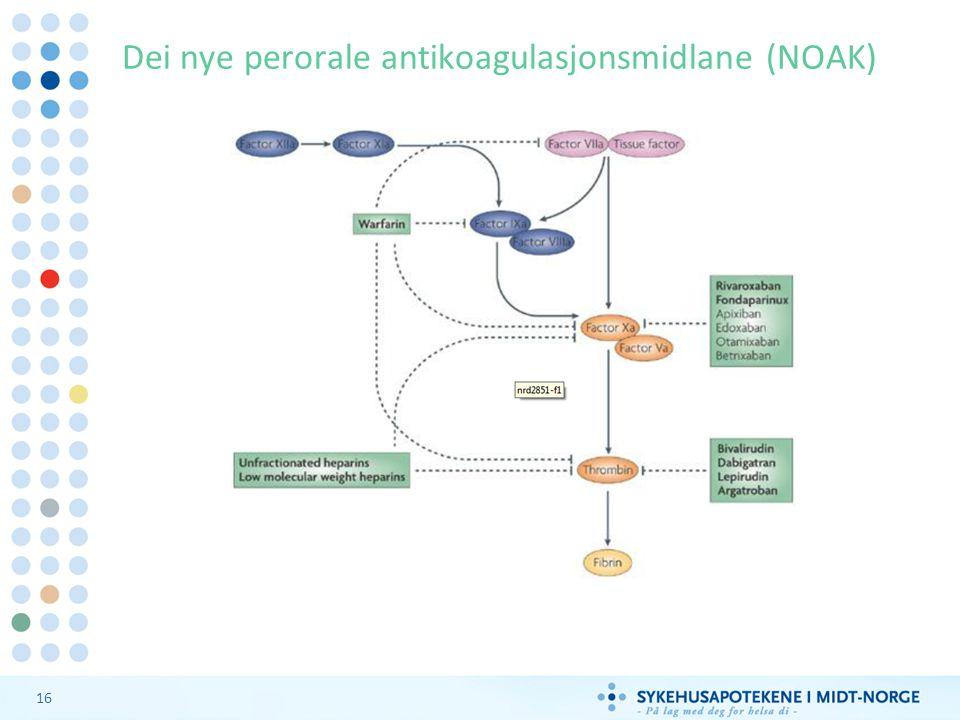16 Dei nye perorale antikoagulasjonsmidlane (NOAK)