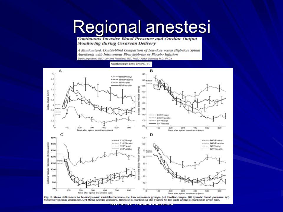 GG ALNSF Høstkonress 2009 Regional anestesi