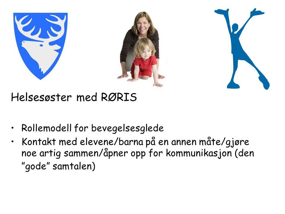 Helsesøster med RØRIS Rollemodell for bevegelsesglede Kontakt med elevene/barna på en annen måte/gjøre noe artig sammen/åpner opp for kommunikasjon (den gode samtalen)