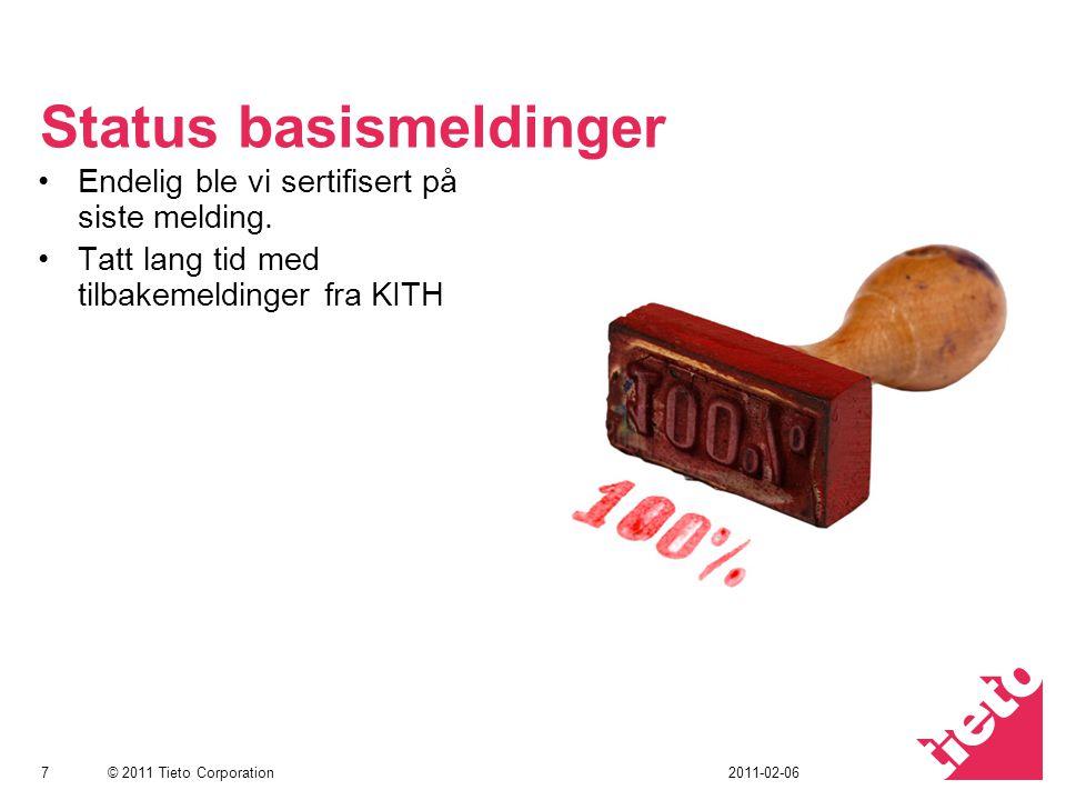 © 2011 Tieto Corporation Utfordringer Krever at bruker vet hvilken kommunikasjonspart som har hvilken versjon ved sending.