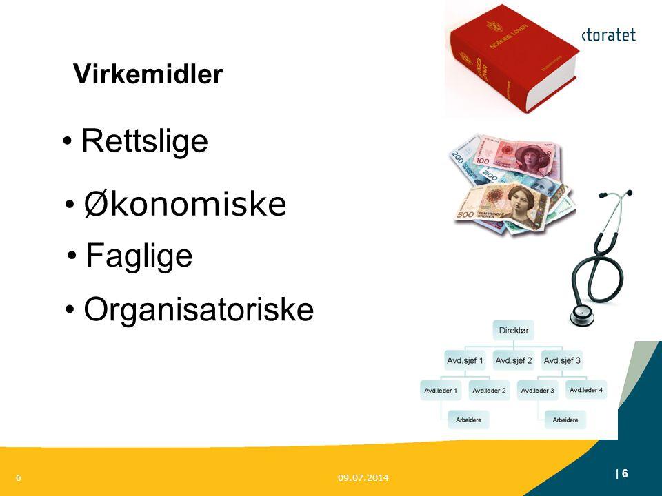 | 6 Virkemidler 09.07.20146 Organisatoriske Faglige Økonomiske Rettslige