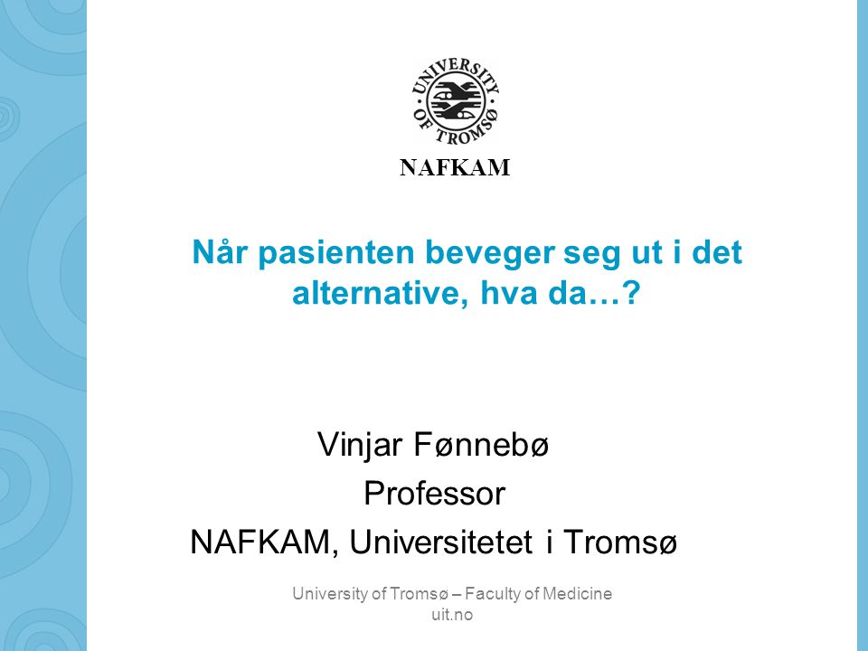 professor universitetet i tromsø
