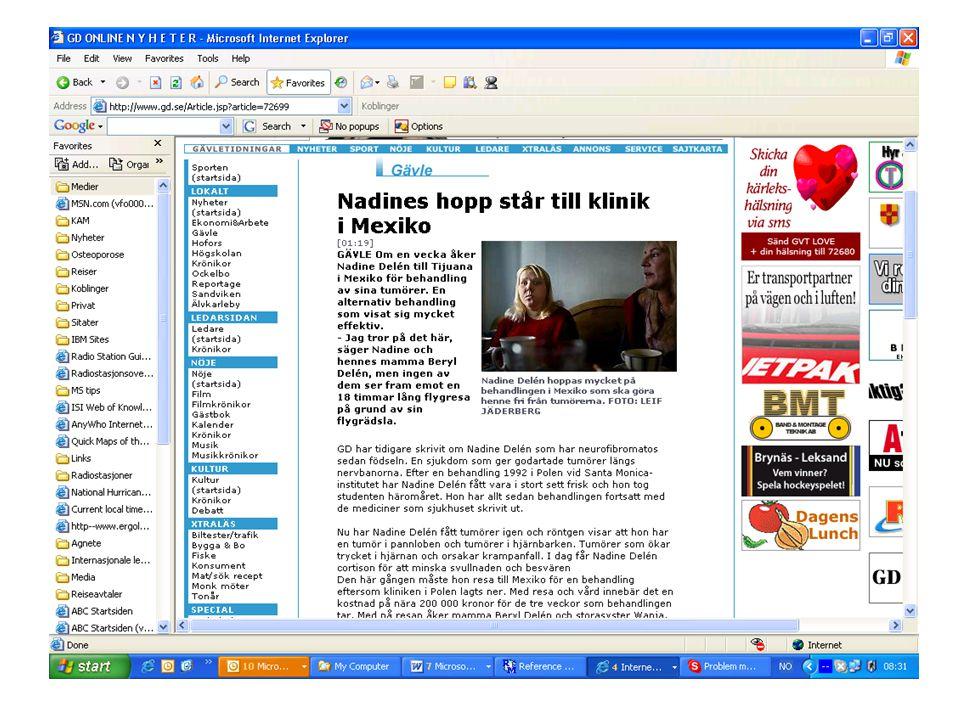 University of Tromsø – Faculty of Medicine uit.no NAFKAM Bruk av alternativ behandling