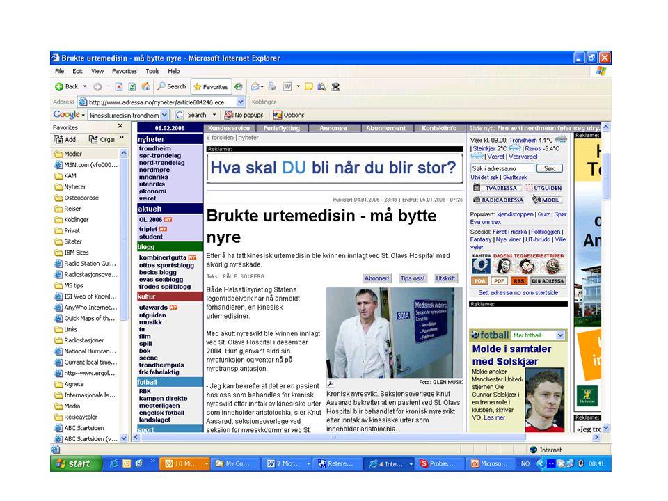 University of Tromsø – Faculty of Medicine uit.no NAFKAM Helsepersonells bruk av alternativ behandling Kolstad 2004