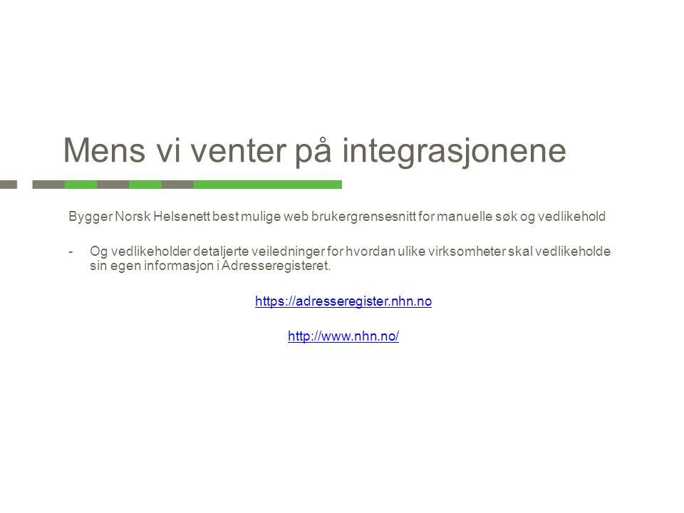 Bygger Norsk Helsenett best mulige web brukergrensesnitt for manuelle søk og vedlikehold -Og vedlikeholder detaljerte veiledninger for hvordan ulike v