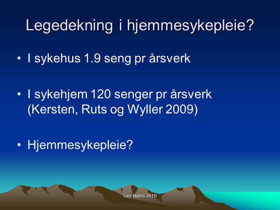 Gro Næss 2010 Legedekning i hjemmesykepleie.
