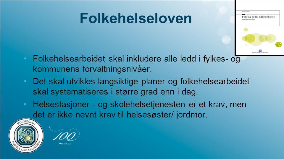 Folkehelseloven Folkehelsearbeidet skal inkludere alle ledd i fylkes- og kommunens forvaltningsnivåer.
