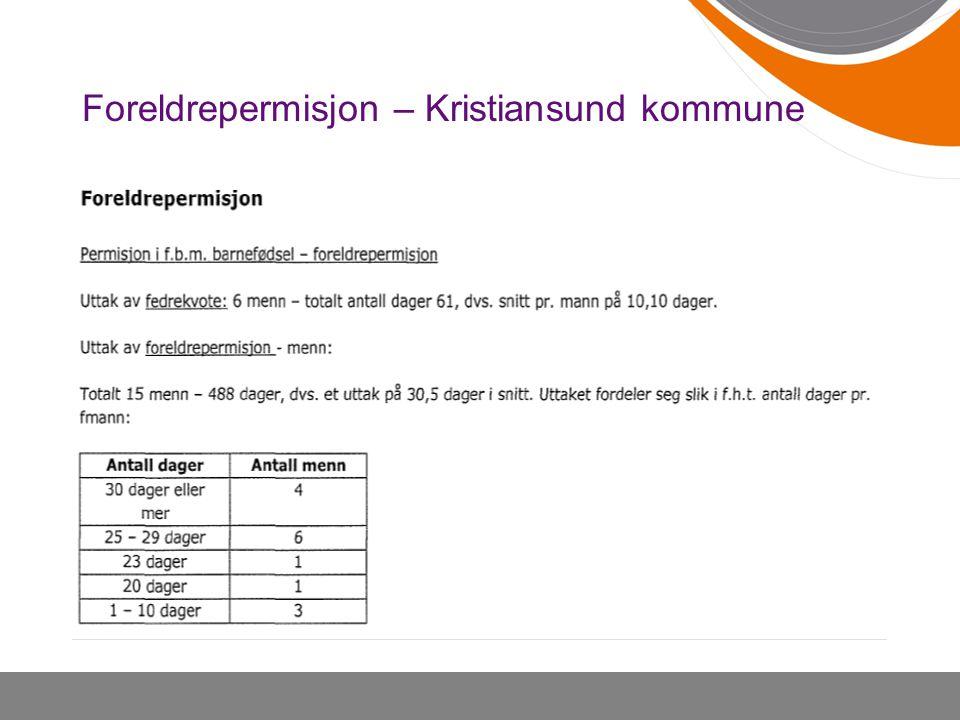 Foreldrepermisjon – Kristiansund kommune