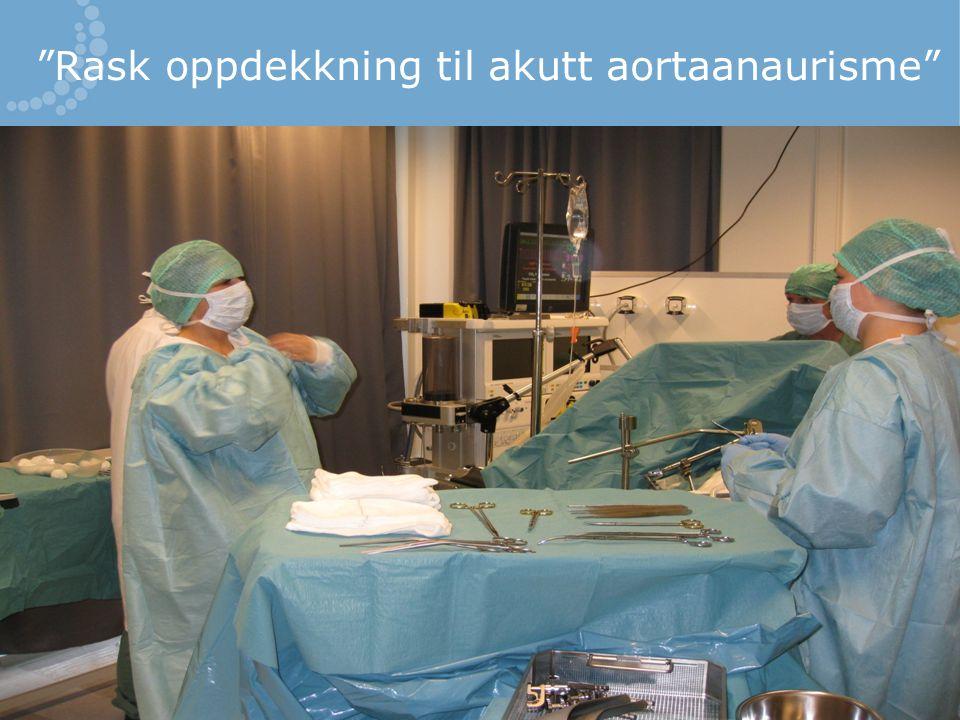Rask oppdekkning til akutt aortaanaurisme